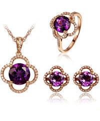 Eppi Ametystová zlatá souprava šperků s diamanty Adele