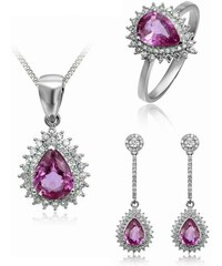 Eppi Souprava šperků s růžovými safíry a diamanty Kaila