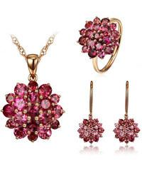 Eppi Zlatá souprava tří šperků s turmalíny Darcy