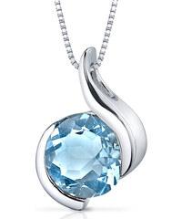 Eppi Stříbrný náhrdelník s topazem Lanika