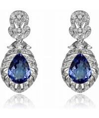 Eppi Zlaté náušnice s tanzanity a diamanty Fujita