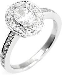Eppi Zásnubní prsten ve vintage stylu s oválným diamantem Kaysi