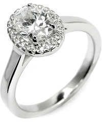 Eppi Romantický zásnubní prsten s oválným diamantem Chastity
