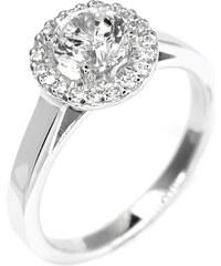 Eppi Klasický zásnubní prsten posetý diamanty Abigail