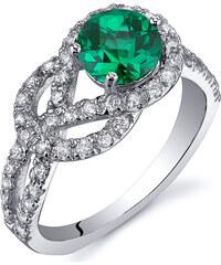 Eppi Čarovný stříbrný prsten se smaragdem Elana
