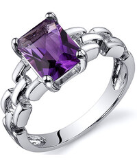 Eppi Ametyst v nádherném stříbrném prstenu Caylea