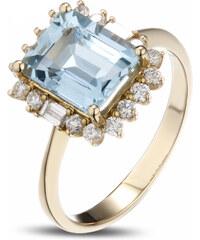Eppi Nebeský zásnubní prsten s akvamarínem a diamanty Analyse