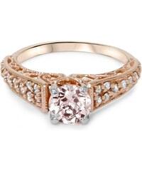 Eppi Zásnubní prsten ve stylu vintage s morganitem a diamanty Karely