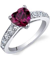 Eppi Srdíčkový rubín v stříbrnem prstenu Bailey