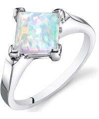 Eppi Stříbrný prsten s bílým princess opálem Neola