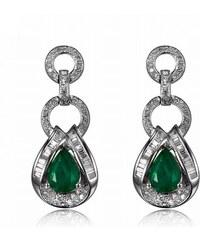 Eppi Luxusní náušnice se smaragdy a diamanty Edrice 3160e2cd845