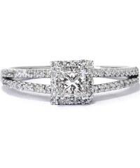 Eppi Zásnubní prsten s princess diamantem Alanah