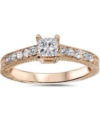 Eppi Zásnubní vintage prsten s princess diamantem Emey