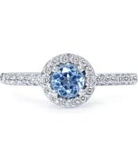 Eppi Topazový zásnubní prsten s diamanty Emeny