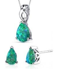 Eppi Zelené opálové slzy ve stříbrné kolekci Brieta