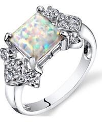 Eppi Stříbrný prsten s princess opálem Aura