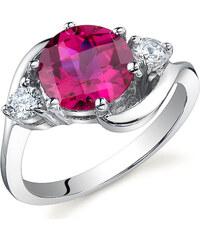 Eppi Stříbrný prsten s rubínem Cerys