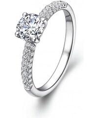 Eppi Platinový zásnubní prsten s diamanty Kristen