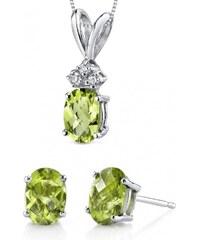 Eppi Zlatá olivínová kolekce šperků Sindy
