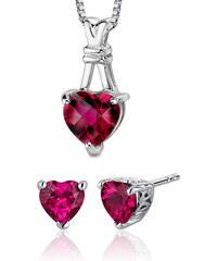 Eppi Romantická kolekce s rubínovými srdíčky Estoria