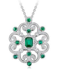 Eppi Zlatý náhrdelník se smaragdy a diamanty Safyah