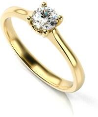 Eppi Zásnubní prsten se srdíčkem a diamantem Lenal