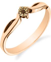 Eppi Zásnubní prsten se champagne diamantem Rorial