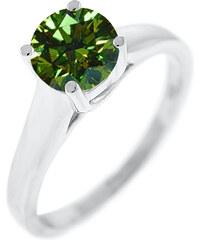 Eppi Zásnubní prsten se zeleným diamantem Wanky
