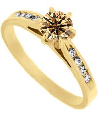 Eppi Zásnubní prsten se champagne diamnatem Hulay