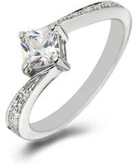 Eppi Platinový zásnubní prsten s princess diamantem Prima
