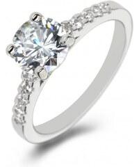 Eppi Platinový zásnubní prsten s diamanty Vea