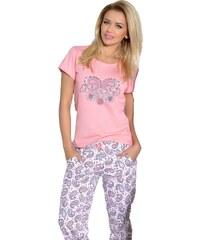 Taro Dámské pyžamo Amore korálové