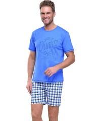 Taro Krátké pánské pyžamo František modré