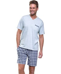 Taro Krátké pánské pyžamo Timon olivové