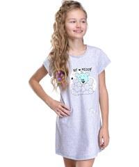Taro Dívčí noční košilka Liana šedá s medvídkem