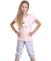 Taro Dívčí pyžamo Tola lososové