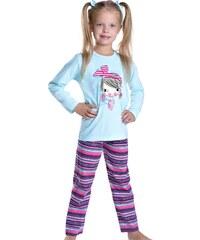 Taro Dívčí pyžamo Mia tyrkysové