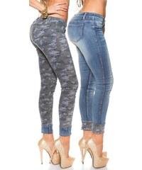 I-Moda Dámské oboustranné skinny džíny