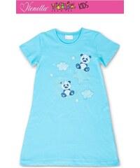 Vienetta Secret Dětská noční košile s krátkým rukávem Méďové - tyrkysová