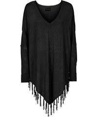 BODYFLIRT boutique Fransen-Poncho 3/4 Arm in schwarz für Damen von bonprix