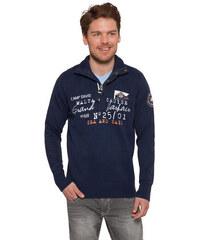 Tmavě modrý svetr s nápisy|XL Camp David 500418
