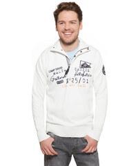 Bílý svetr s nápisy|XXXL Camp David 500579