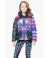 Desigual barevná dívčí bunda Grusoni