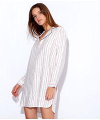 Chemise de nuit rayée en viscose Etam