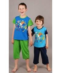 Cool Comics Dětské pyžamo kapri Žáby s míčem - modrá