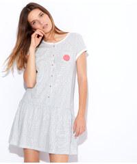 Chemise de nuit rayée, détails smiley Etam