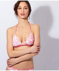 Haut de maillot de bain triangle imprimé sans armatures, pad amovible Etam