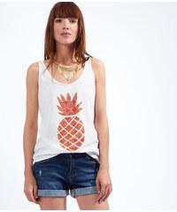 Top imprimé ananas, détail noeud dos Etam