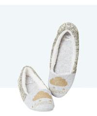 Chaussons chinés et tricot doré Etam