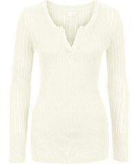 BODYFLIRT boutique Pull en maille blanc femme - bonprix
